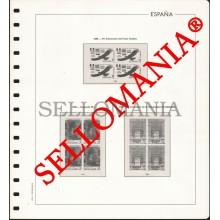 SUPLEMENTO EDIFIL AÑOS 1985 / 86 BLOQUE 4 SELLOS ESPAÑA MONTADO EN TRANSPARENTE  TC23590
