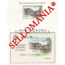 1985 EXFILNA 85 SALON DEL PRADO HB SHEET 2814 ** MNH + SH2814 MUSEUM   TC22944