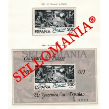 1981 PABLO PICASSO GUERNICA EDIFIL 2631 ** HB MNH SHEET + STAMP PAINTING TC23029