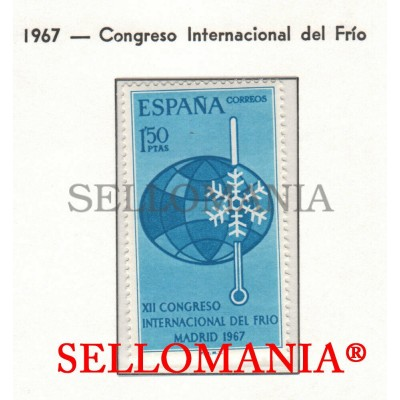 1967 CONGRESO DEL FRIO REFRIGERATION CONGRESS SNOW NIEVE 1817 ** MNH TC23295