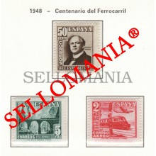 1948 FERROCARRIL TRAIN CHEMIN DE FER RAILWAY BRIDGE  1037 / 39 MNH ** TC23464 FR