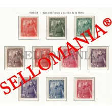 1948 GENERAL FRANCO CASTILLO DE LA MOTA CASTLE CHATEAU 1024 32 MH * TC23466 FR