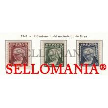 1946 FRANCISCO DE GOYA Y LUCIENTES PEINTURE PAINTING 1005 / 07 MNH ** TC23472 FR