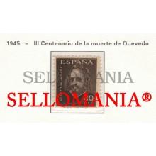 1945 FRANCISCO DE QUEVEDO ECRIVAIN ESCRITOR WRITER  989 MNH ** TC23479 FR