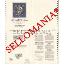 1977 COURRIER MARITIME MAIL CORREO MARITIMO ESPAMER 77 DOCUMENTO 3 TC23569 FR