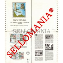 1980 ESPAMER AMERICA EUROPA EUROPE VERRE CRYSTAL PALACE  DOCUMENTO 12 TC23577 FR