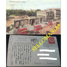 POSTCARD LONDON HYDE PARK CORNER 1957 LONDRES ENGLAND INGLATERRA POSTAL CC04387 UK