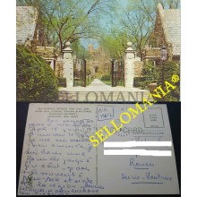 POSTCARD PRINCETON UNIVERSITY GATEWAY BETWEEN PYNE HALL NEW JERSEY POSTAL CC04581 USA