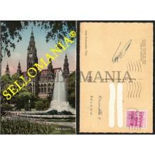 POSTKARTE ÖSTERREICH WIEN VIENNE VIENA 1955 RATHAUS TOWN HALL AYUNTAMIENTO AUSTRIA POSTAL CC05367 DE