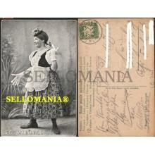 POSTKARTE DEUTSCHLAND LOISE WANTHALER 1908 KOMIKERIN CLOWN GERMANY ALEMANIA CC05732 DE