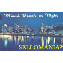 POSTCARD USA MIAMI BEACH AT NIGHT FLORIDA  CC04973 USA