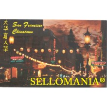 POSTCARD A NIGTH IN EXOTIC CHINATOWN SAN FRANCISCO CALIFORNIA CC05010 USA