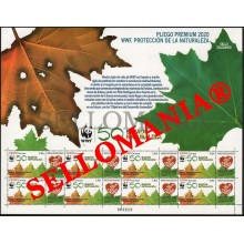 2020 WWF PROTECCION NATURALEZA NATURE PROTECTION PLIEGO PREMIUM ** MNH   TC23693