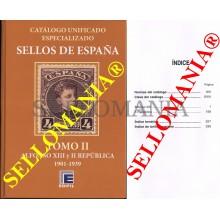 CATALOGO ESPECIALIZADO EDIFIL ESPAÑA TOMO II  1901 A 1939  SERIE BRONCE  EDICION 2020