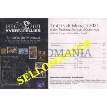 YVERT & TELLIER 2021 CATALOGO SELLOS MONACO TERRITORIOS ULTRAMAR FRANCIA ULTIMA EDICION TC23874