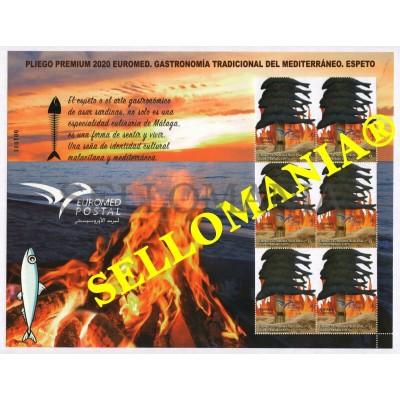 2020 GASTRONOMIA TRADICIONAL MEDITERRANEO ESPETO PLIEGO PREMIUM ** MNH  TC23856