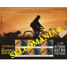 2020 EUROPA ANTIGUAS RUTAS POSTALES EUROPE BIKE PLIEGO PREMIUM ** MNH TC23859