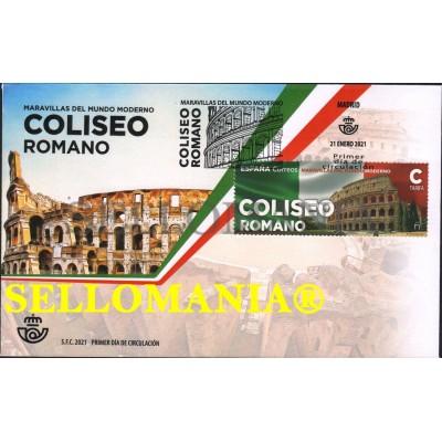 2021 COLISEUM ROMA COLISEO ROMANO ITALIA ITALY SPD FDC TC23919