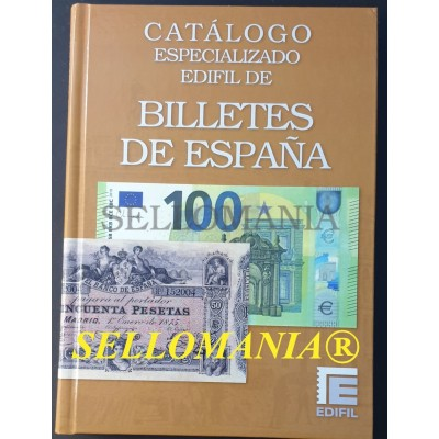 CATALOGO ESPECIALIZADO EDIFIL BILLETES DE ESPAÑA ULTIMA EDICION 2021 TC23932
