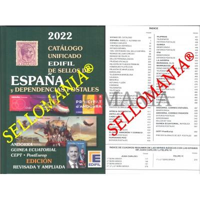CATALOGO EDIFIL 2022 SELLOS ESPAÑA Y EX-COLONIAS EX-COLONIAL SPAIN STAMPS CATALOGUE ULTIMA EDICION  TC24040