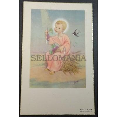 ESTAMPA HOLY CARD NIÑO JESUS ANDACHTSBILD SANTINI SANTINO CHILD JESUS     CC1741