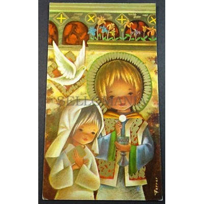 ESTAMPA HOLY CARD PRIMERA COMUNION FIRST COMMUNION ANDACHTSBILD SANTINI   CC1742