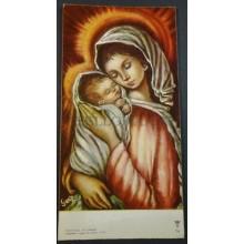 ANTIGUA ESTAMPA HOLY CARD VIRGEN MARIA Y NIÑO JESUS ANDACHTSBILD SANTINI  CC1805