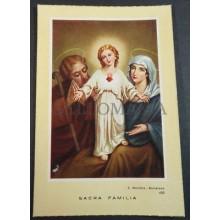 OLD BLESSED SACRED FAMILY HOLY CARD ANDACHTSBILD SANTINI SAGRADA FAMILIA  CC2063