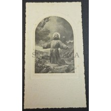 OLD BLESSED PRAYING GOD HOLY CARD ANDACHTSBILD SANTINI SANTINO            CC2065