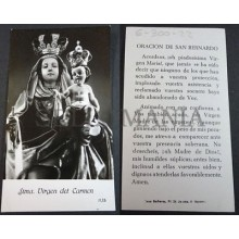 OLD BLESSED OUR LADY OF MOUNT CARMEL HOLY CARD ANDACHTSBILD SANTINI       CC2069