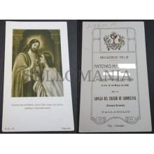 ESTAMPA PRIMERA COMUNION HOLY CARD 1918 COLEGIO CARMELITAS VALLADOLID     CC2094