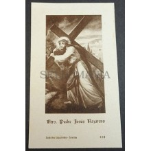 OLD BLESSED JESUS CHRIST IN THE CROSS HOLY CARD ANDACHTSBILD SANTINI      CC2097