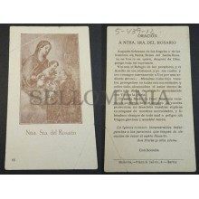 OLD BLESSED OUR LADY OF ROSARY HOLY CARD ANDACHTSBILD SANTINI SANTINO     CC2128