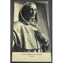 OLD BLESSED SAINT DOMINIC GUZMAN HOLY CARD ANDACHTSBILD SANTINI SANTINO   CC2133