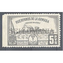 FISCAL HUERFANOS DE LA ARMADA CRUCERO BALEARES ** MNH MILITARY BOAT TC12512