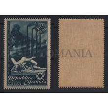 1938 OBREROS DE SAGUNTO VARIEDAD TRANSFERIDO EDIFIL 774t ** MNH WAR     TC12193