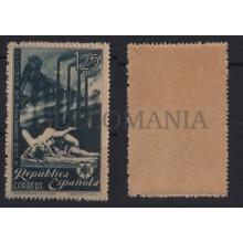 1938 OBREROS DE SAGUNTO VARIEDAD TRANSFERIDO EDIFIL 774ta ** MNH WAR    TC12194