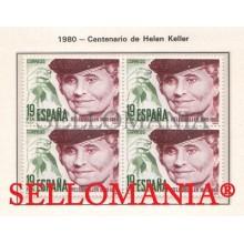 1980 CENTENARIO HELEN ADAMS KELLER AMERICAN AUTHOR 2574 ** MNH B4 TC21590