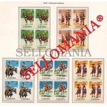 1974 UNIFORMES MILITARES MILITARY UNIFORMS ARMY  2167 / 71 ** MNH B4 TC21599