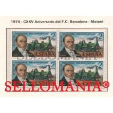 1974 FERROCARRIL BARCELONA MATARO RAILWAY BIADA  2173 ** MNH B4 TC21601