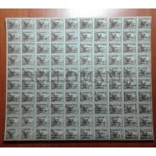PLIEGO 100 SELLOS CID CON HABILITACIONES FANTASIA GUERRA CIVIL SHEET WAR TC20293