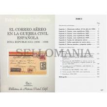 EL CORREO AEREO GUERRA CIVIL ESPAÑOLA ZONA REPUBLICANA  1936 - 1939   GUILLAMON