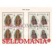 1974 EUROPA CEPT SCULPTURE DAMA DE BAZA GRANADA      2177 / 78 ** MNH B4 TC21604