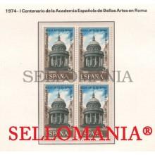 1974 ACADEMIA ESPAÑOLA BELLAS ARTES EN ROMA FINE ARTS  2183 ** MNH B4 TC21605