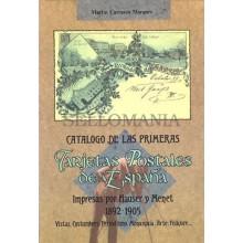 CATALOGO LAS TARJETAS POSTALES DE ESPAÑA IMPRESAS POR HAUSER Y MENET 1892 - 1905