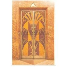 ANTIGUA POSTAL ART DECO ELEVATOR DOOR CHRYSLER BUILDING POSTCARD         TC10875