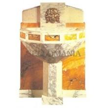 ANTIGUA POSTAL ART DECO WALL FOUNTAIN BY SÜE ET MARE 1925 POSTCARD       TC10870