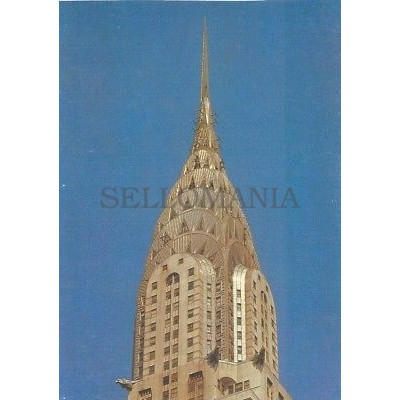 ANTIGUA POSTAL ART DECO CHRYSLER BUILDING BY WILLIAM VAN ALEN POSTCARD   TC10869