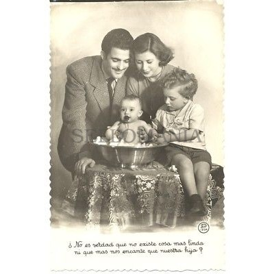 ANTIGUA POSTAL FOTOGRAFICA PRESENTACION FAMILIAR PHOTOGRAPHIC POSTCARD   TC10890