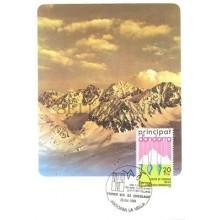 TARJETA MAXIMA ANDORRA 1984 CULTURA PIRENAICAS EDIFIL 182 MAXIMUM CARD   TC10609